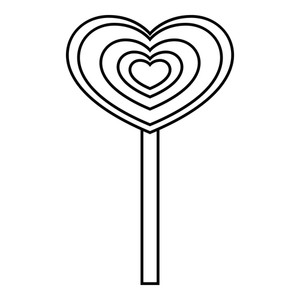 300x300 Candy Heart Royalty Free Vectors