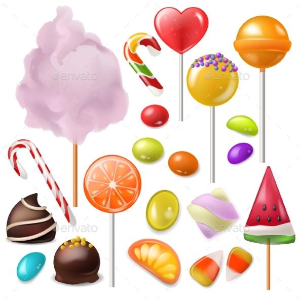 590x590 Candy Vector Sweet Food Dessert Lollipop By Vectoristik Graphicriver