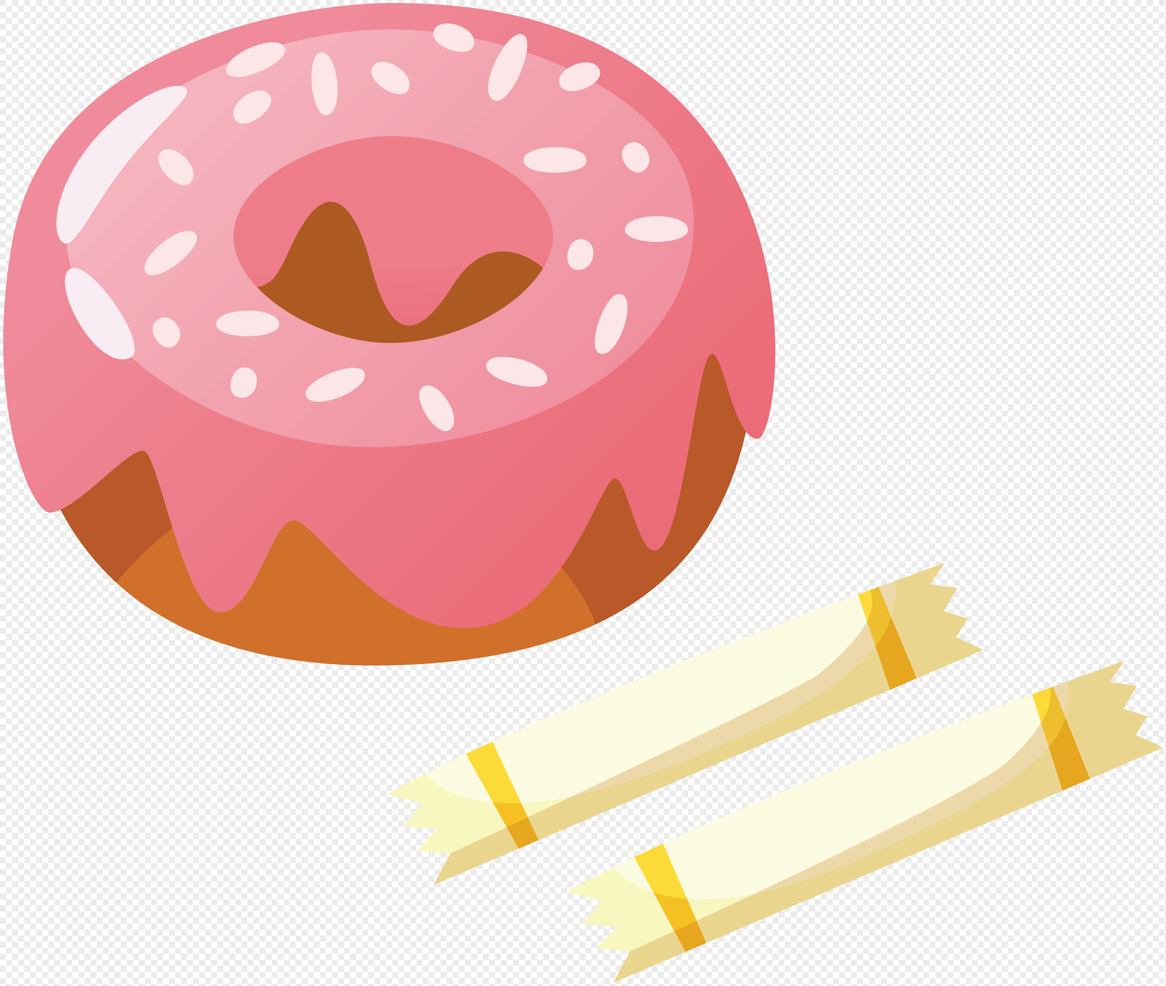 3864x3267 Hand Painted Cartoon Food Food Candy Vector Material Png