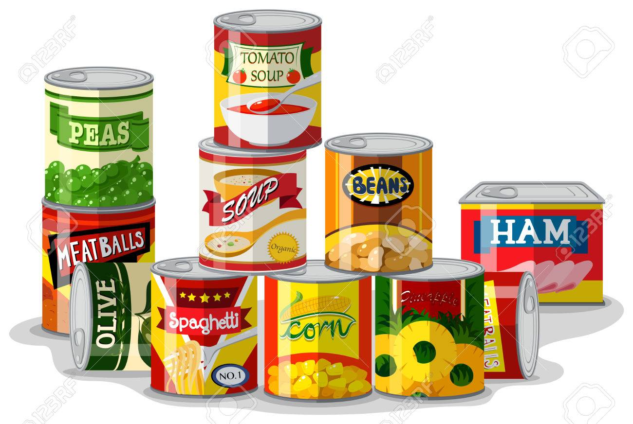 1300x872 Canned Clipart