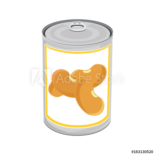 500x500 Canned Food Vector