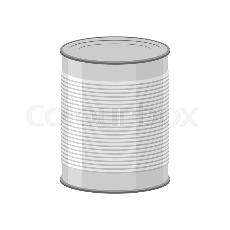 800x800 Cans For Canned Food On White Background. Tin Vector Illustration