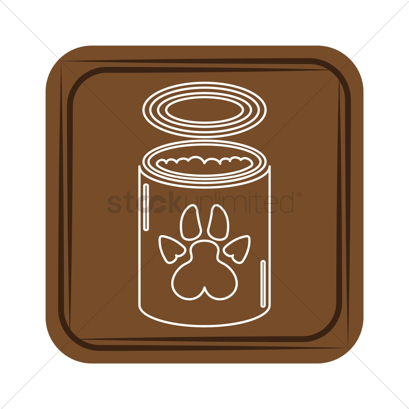 1300x1300 Dog Canned Food Vector Image