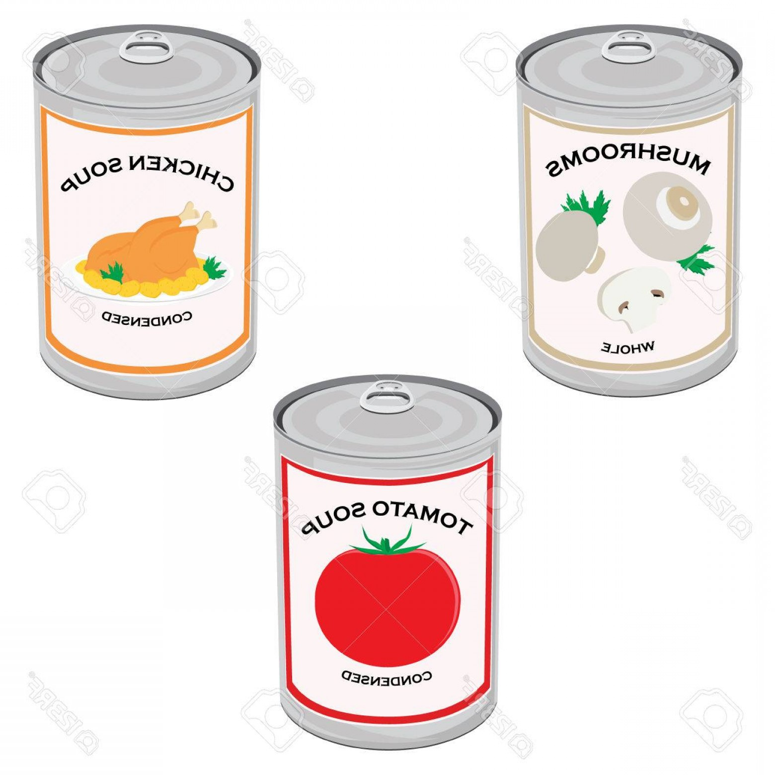 1560x1560 Photostock Vector Vector Illustration Canned Food Set Collection