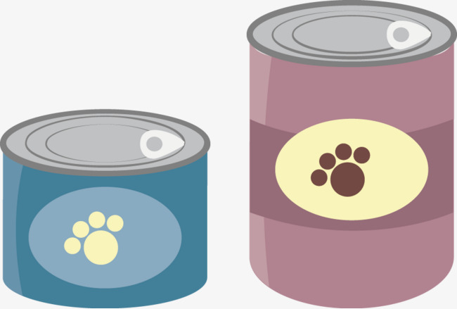 650x439 Canned Dog Food Vector Material, Dog Clipart, Food Clipart, Food