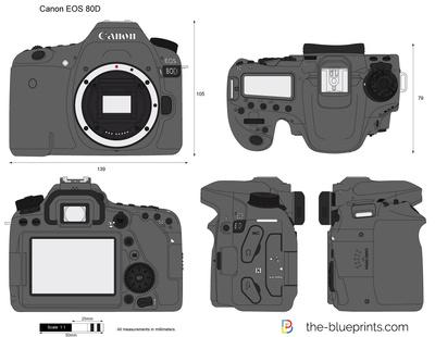 400x310 Canon Eos 80d Vector Drawing