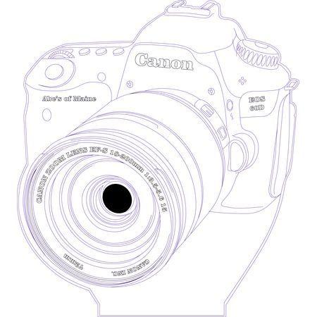 450x450 Canon 3d Illusion Vector File For Cnc Dremel, Laser Cut, Cnc