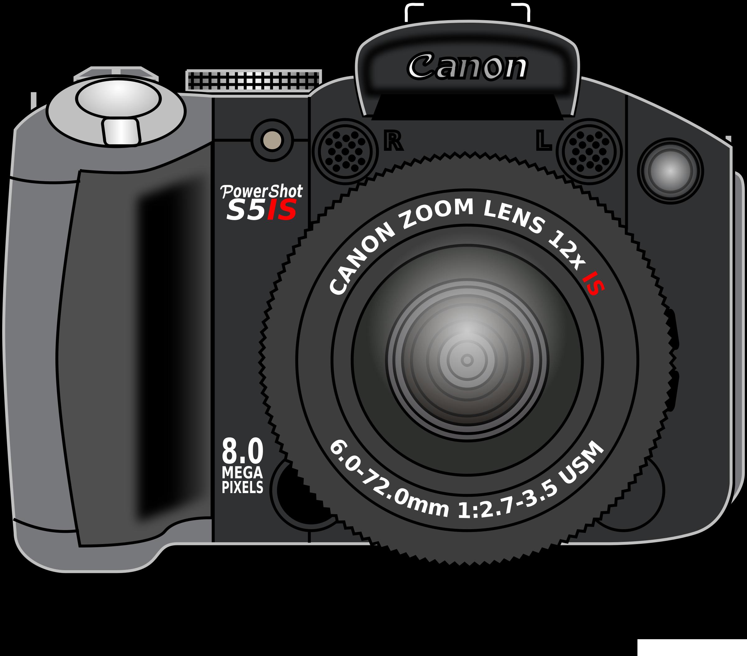 2400x2110 Canon Powershot Vector Clipart Image