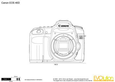 400x283 Canon Eos 40d Vector Drawing