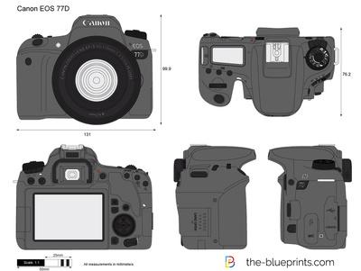 400x301 Canon Eos 77d Vector Drawing