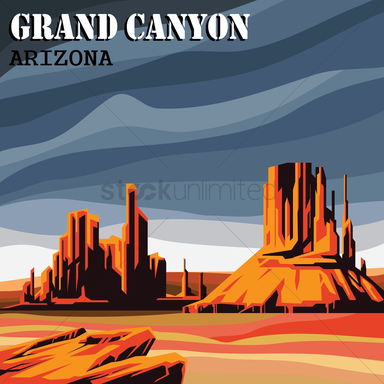 1300x1300 Free Grand Canyon Vector Image