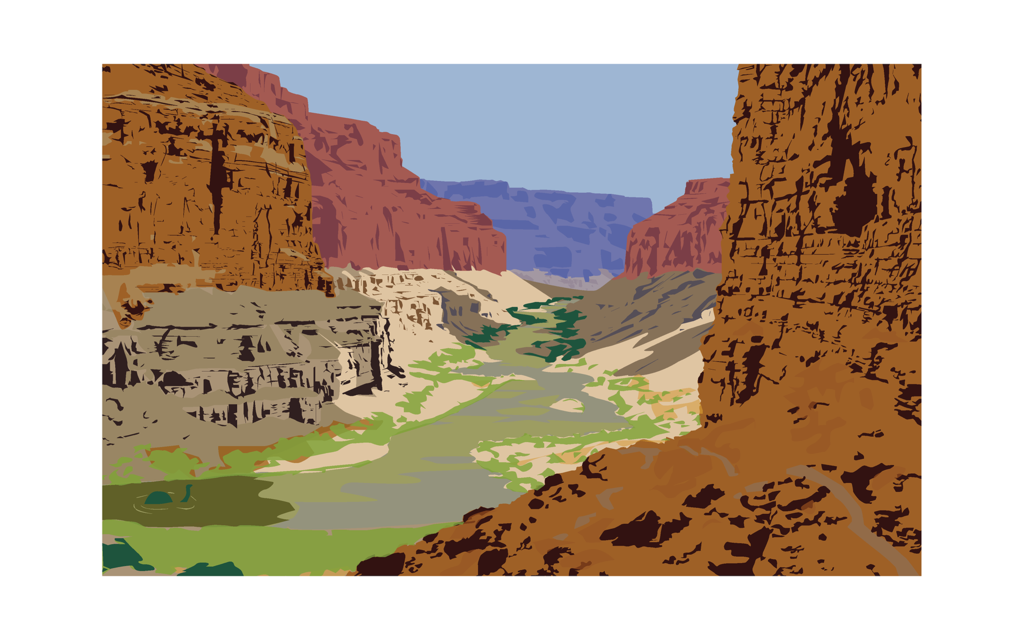 1024x640 Grand Canyon Vector By Briefleaf
