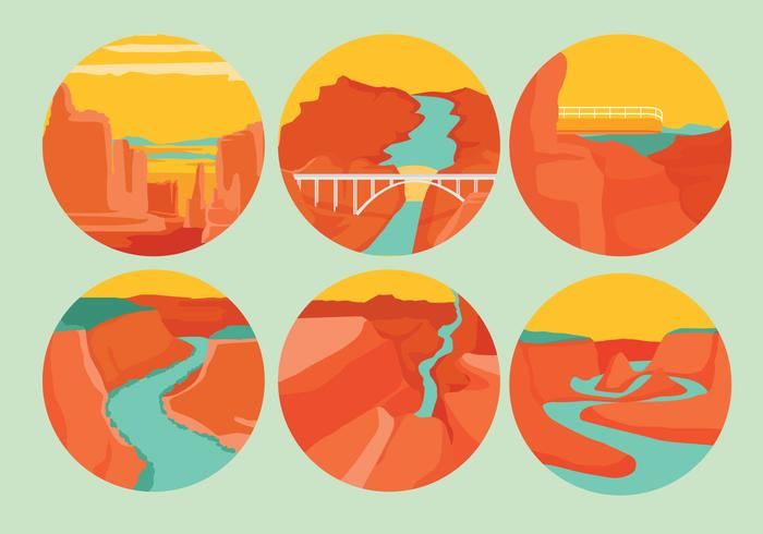 700x490 Grand Canyon Vectors
