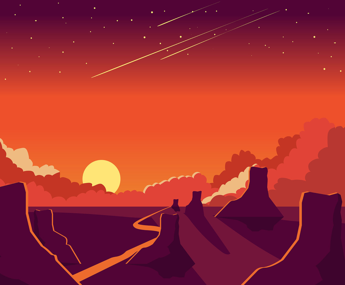 1136x936 Sunset Background And Canyon Vector Vector Art Amp Graphics