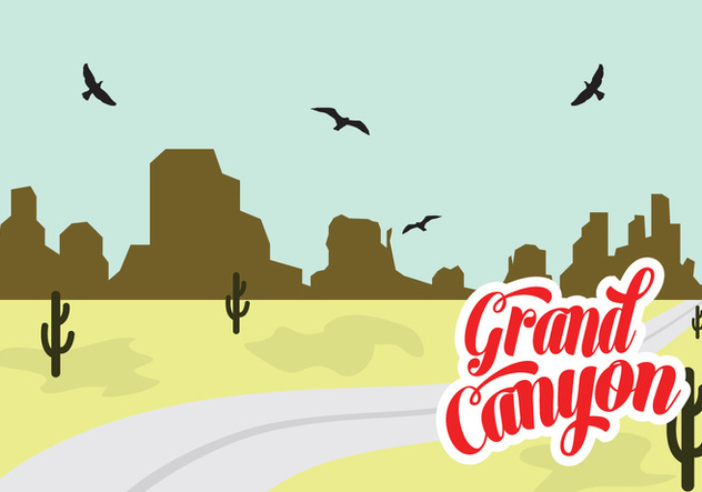 632x443 Vector Illustration Of Grand Canyon Free Vector Download 329379
