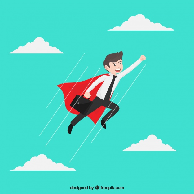 626x626 Businessman With Superhero Cape Vector Free Download