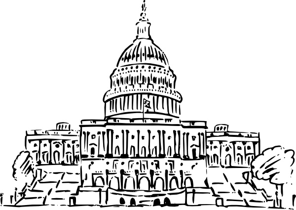 600x425 Us Capitol Building Clip Art Free Vector In Open Office Drawing