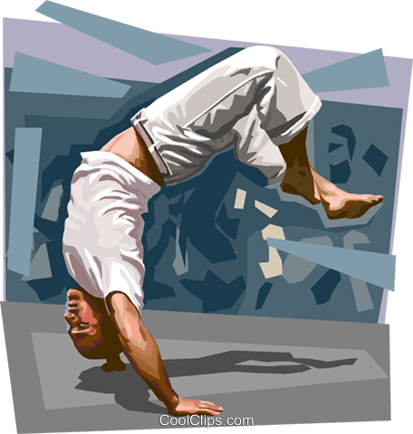 456x480 Brazilian Capoeira Royalty Free Vector Clip Art Illustration