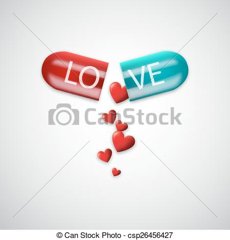 450x470 Love Capsule. Vector Illustration For Your Design.