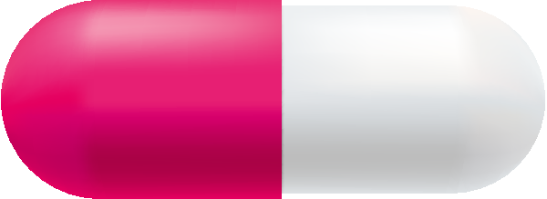 600x219 Pink And White Color Capsule Vector Free Icon Svg(Vector)public
