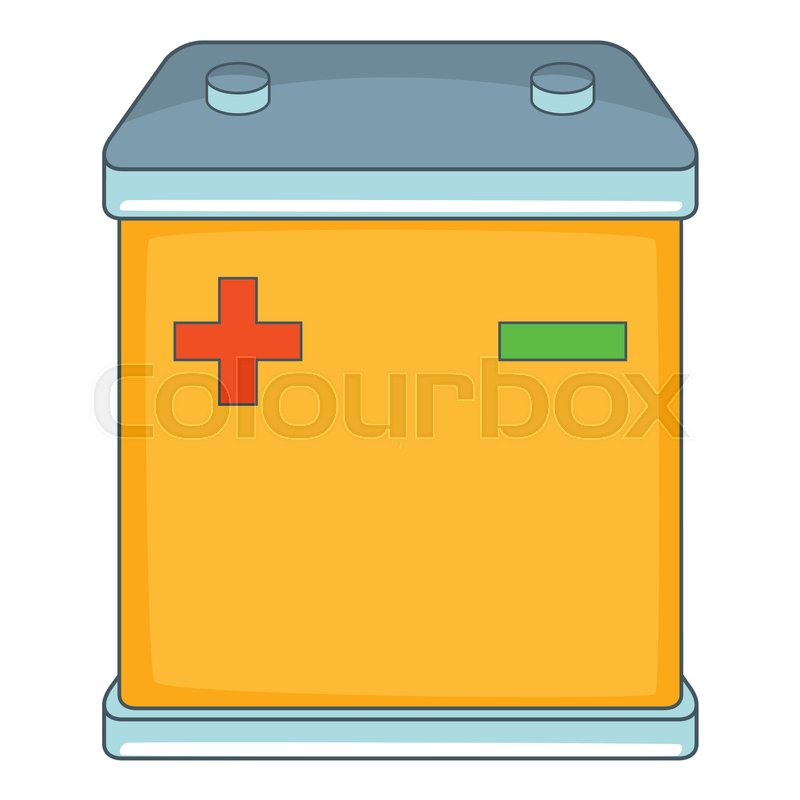 800x800 Car Battery Icon. Cartoon Illustration Of Car Battery Vector Icon