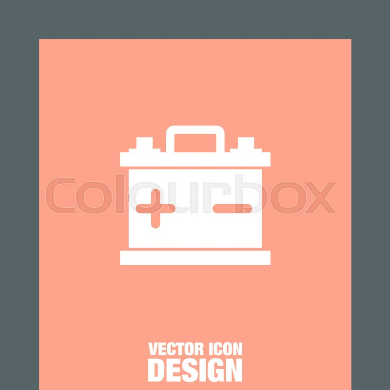 800x800 Car Battery Vector Icon. Energy Power Sign. Electricity Charge