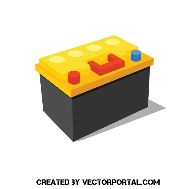 660x660 Car Battery Vector Image