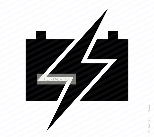 620x553 Charge Car Battery Vector Icon