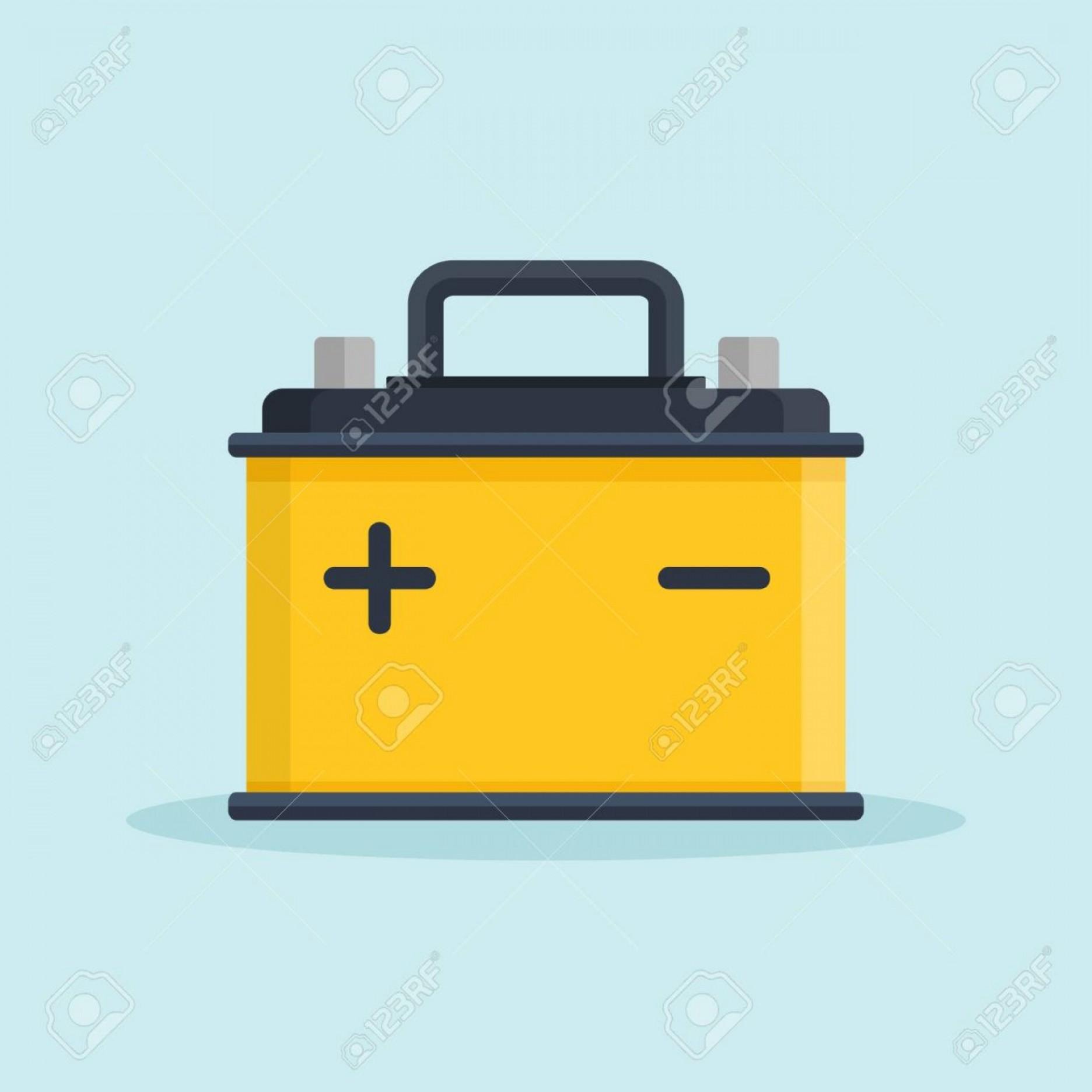 1872x1872 Photostock Vector Car Battery Icon Accumulator Battery Energy