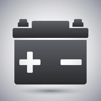 416x416 Vector Car Battery Icon Stock Vectors