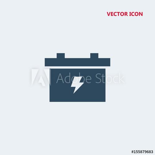 500x500 Car Battery Vector Icon