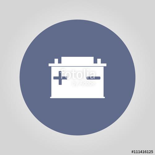 500x500 Car Battery Vector Icon Stock Image And Royalty Free Vector Files