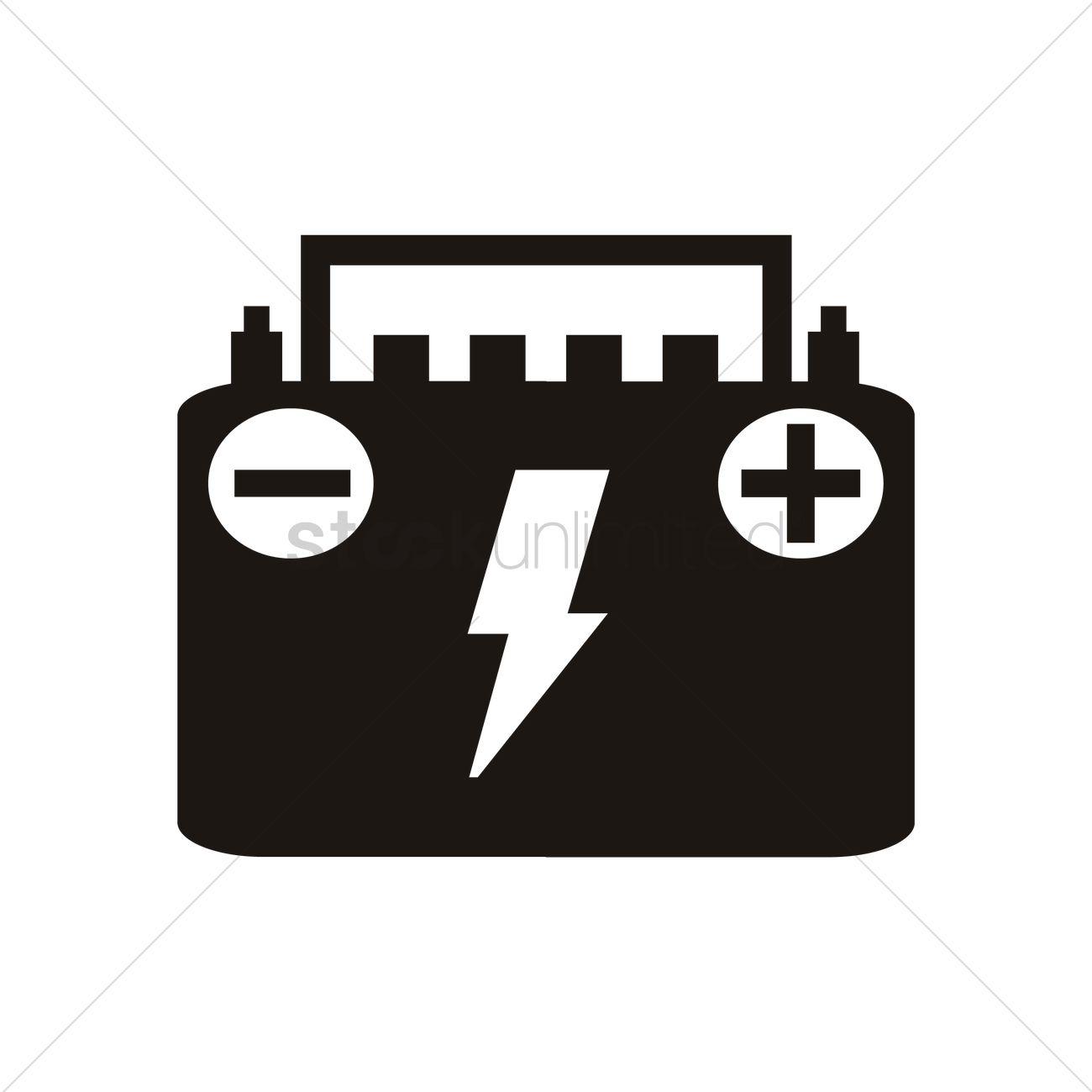 1300x1300 Car Battery Vector Image