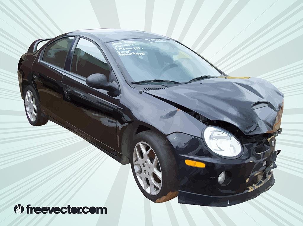 1024x765 Car Crash Vector Vector Art Amp Graphics