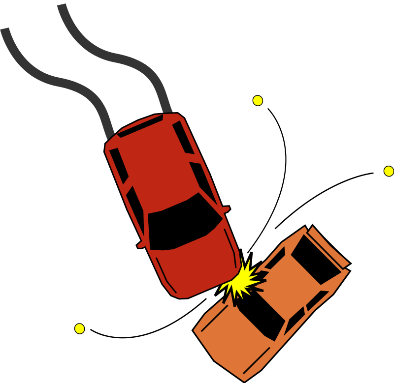 800x779 Car Accident Free Vector 4vector