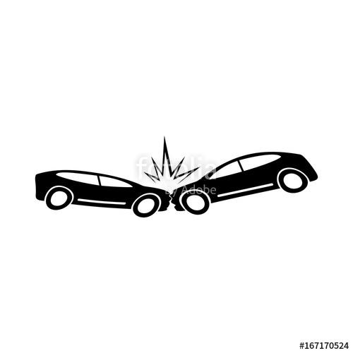 500x500 Car Crash Vector Icon Stock Image And Royalty Free Vector Files