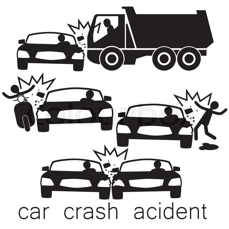 800x800 Icon For Car Crash Acident On Side Collision Stock Vector