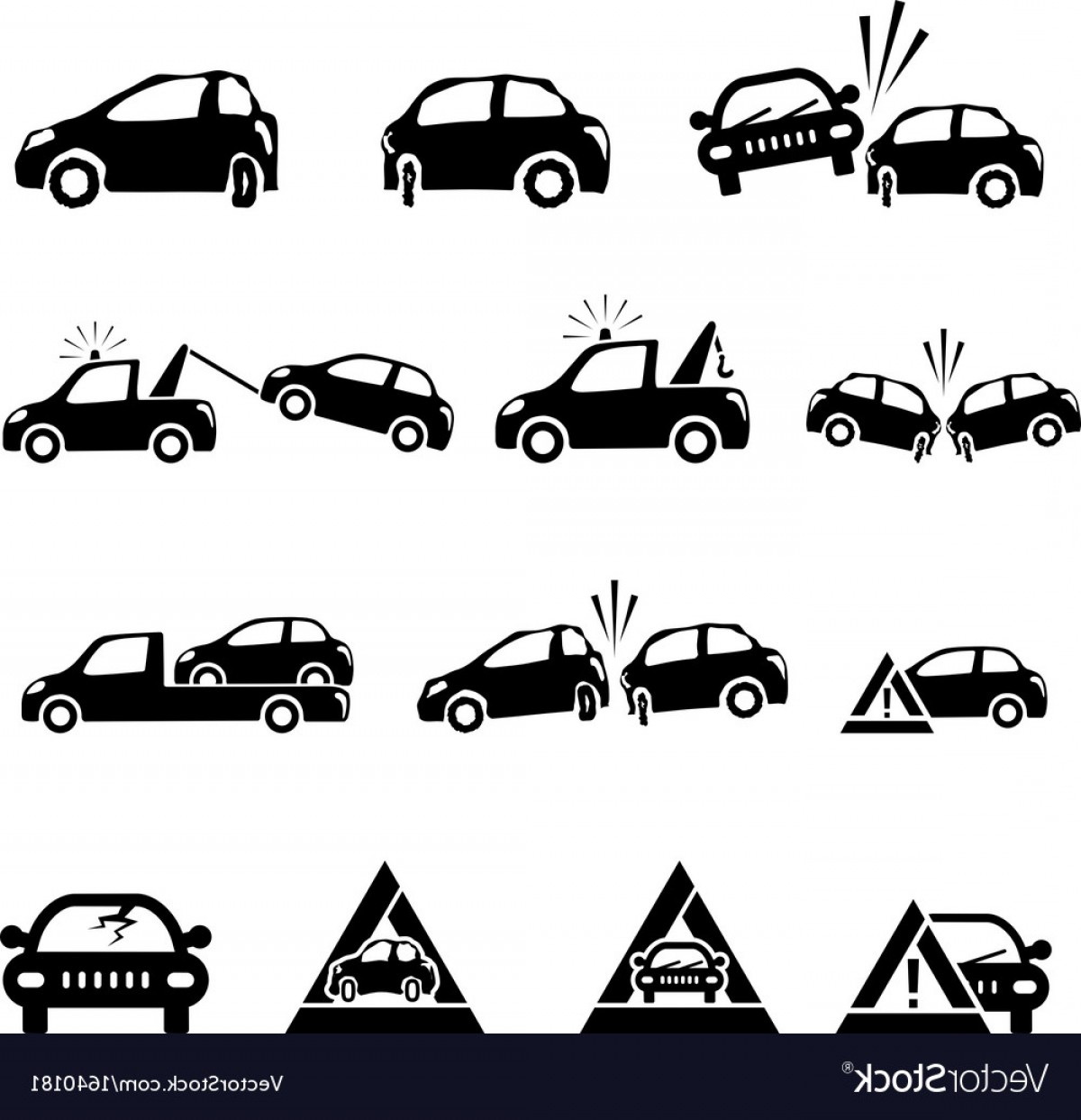 1200x1243 Icons Set Of Car Accident Vector Arenawp