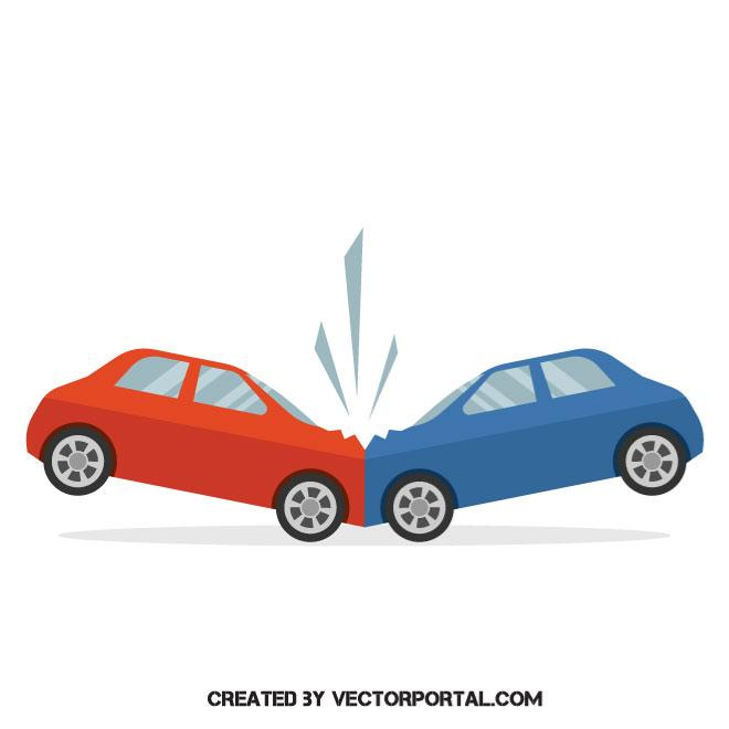 660x660 Road Accident Vector Image