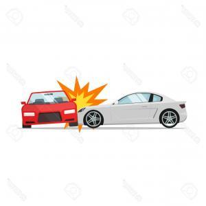 300x300 Stock Illustration Truck Car Accident Vector Illustration Image