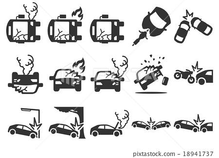 450x324 Stock Vector Illustration Car Crash Icons