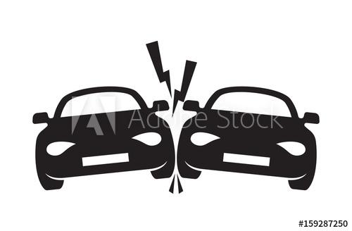 500x328 Car Crash Vector Icon