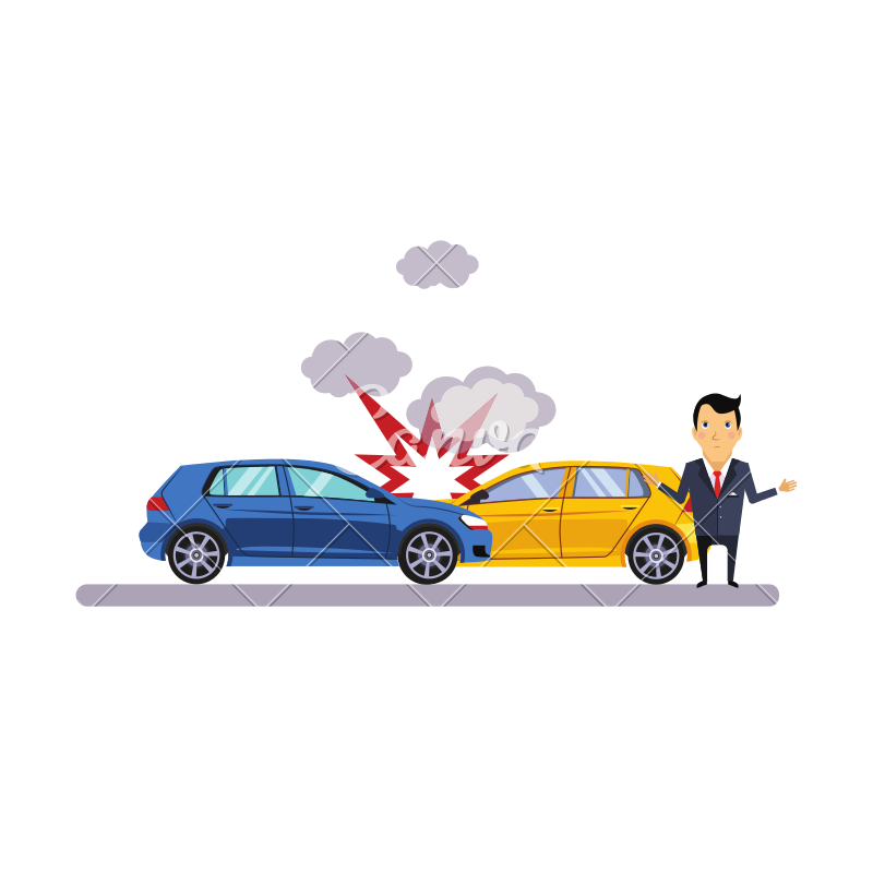 800x800 Car Crash Accident Vector