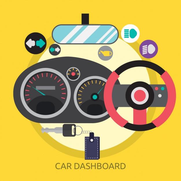 626x626 Car Dashboard Background Design Vector Free Download