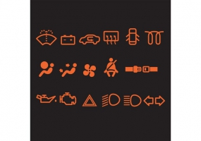 285x200 Car Dashboard Icons Free Vector Graphic Art Free Download (Found