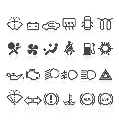 380x400 Car Dashboard Icons Vector Icons Icons, Cars And