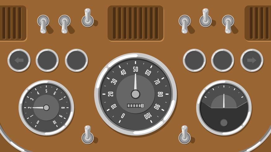 875x490 Classic Car Dashboard Ui Free Vector