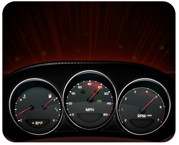 596x483 Create A Stylish Sports Car Dashboard With Areas Of Detailed Realism