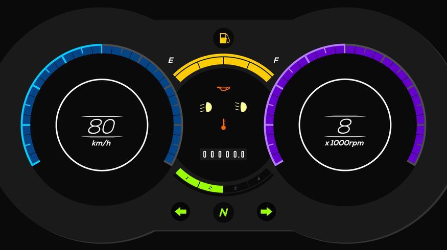 875x490 Electric Car Dashboard Ui Vector