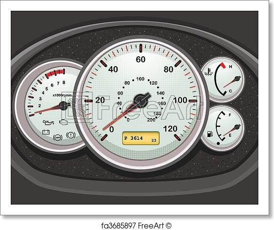 560x470 Free Art Print Of Car Dashboard And Dials. . Car Dashboard And